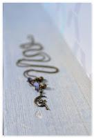 sautoir grappe féerique bronze vieilli et indigo