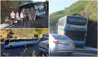 Ônibus da Novo Horizonte perde freio