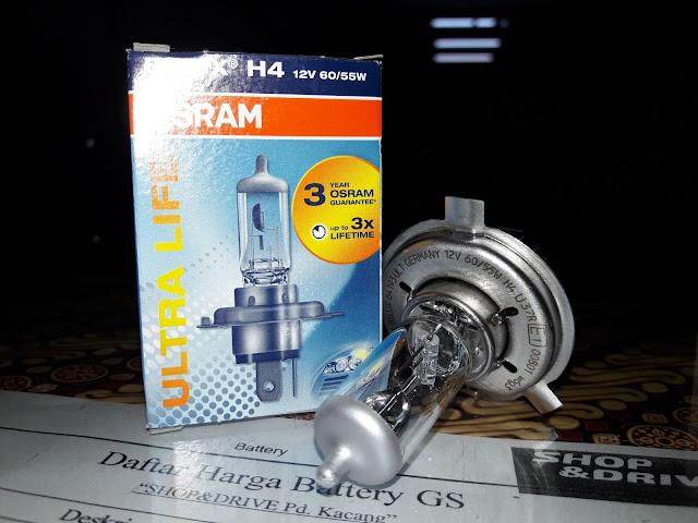 Harga bohlam H4 Osram untuk mobil