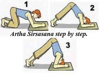Artha Sirsasana step by step