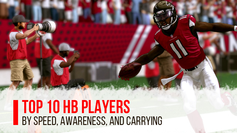 Top 10 HB Players By Speed, Awareness and Carrying in Madden 21
