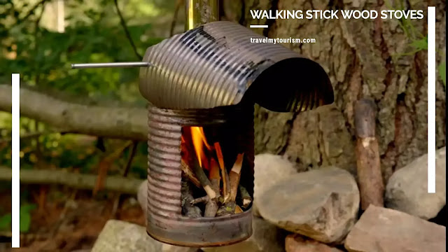 Walking stick wood stoves