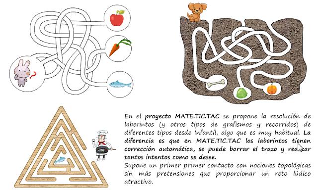 Laberintos. Educación Infantil. Proyecto MATE.TIC.TAC