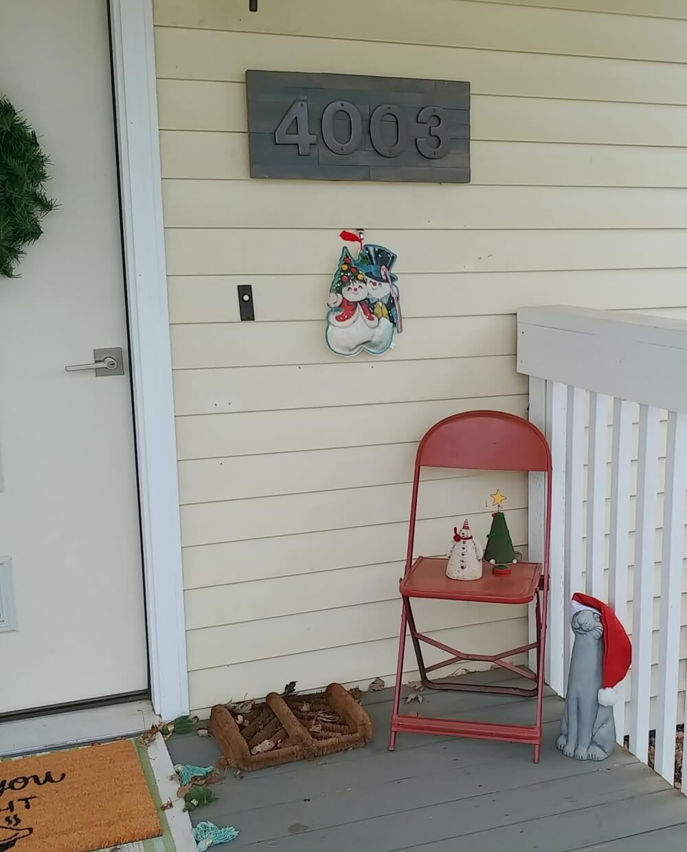 Merry Christmas Porch Decor
