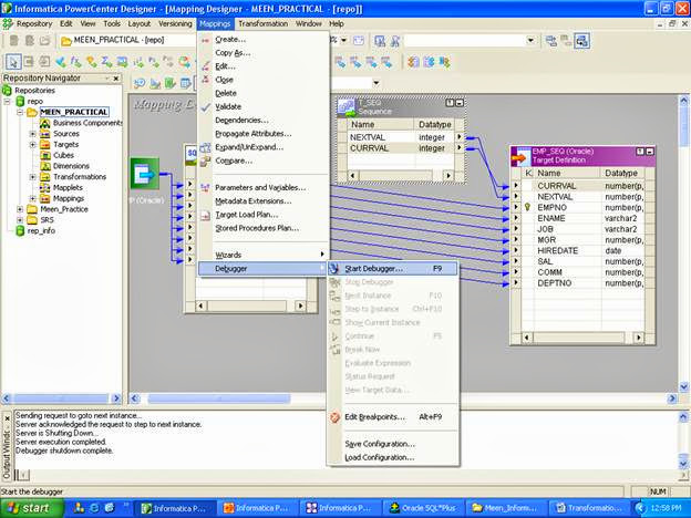 Debugging in Informatica