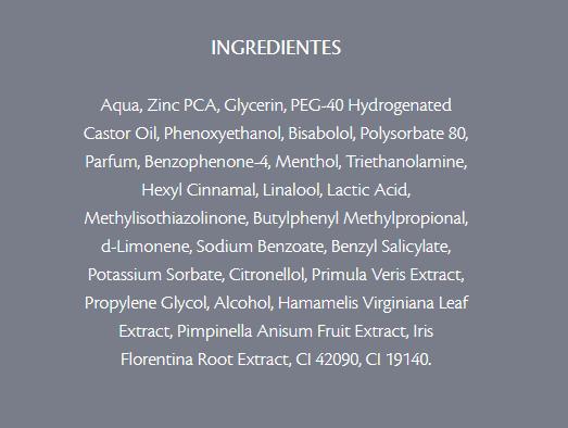 Ingredientes Higiporo Tônico Adstringente para pele com Acne Davene