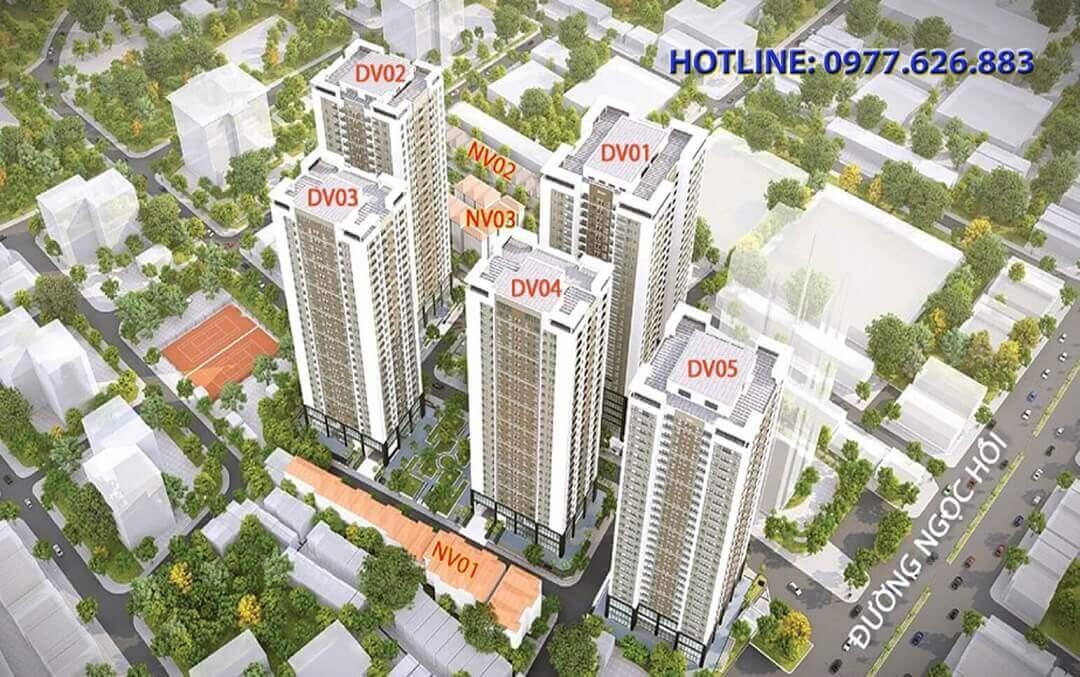 Quy mô dự án Rose Tower 79 Ngọc Hồi – Chủ đầu tư Xuân Mai