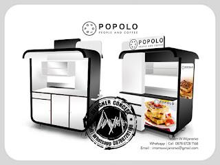 produksi gerobak wafel popolo