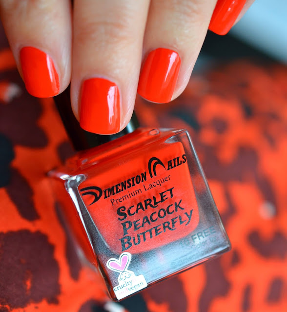 Dimension Nails Scarlet Peacock Butterfly swatch