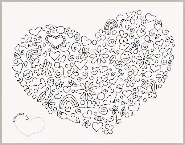 Abstract heart coloring pages for Abstract heart coloring pages