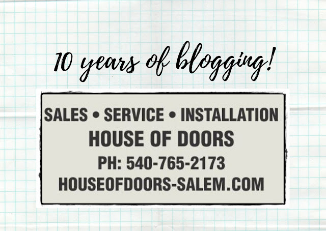 Today is the 10 year anniversary of the House of Doors - Roanoke, VA Blog