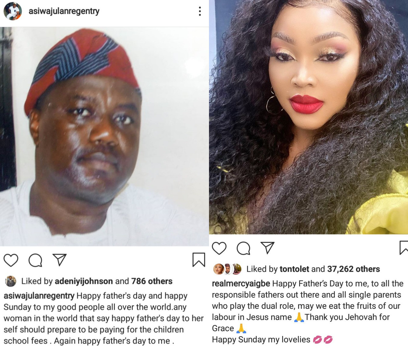 """'You Will Pay Your Children's School Fees"""" -Mercy Aigbe's Ex-Husband, Lanre Gentry Threatens Her After She Wished Herself A Happy Father's Day #Arewapublisize"""