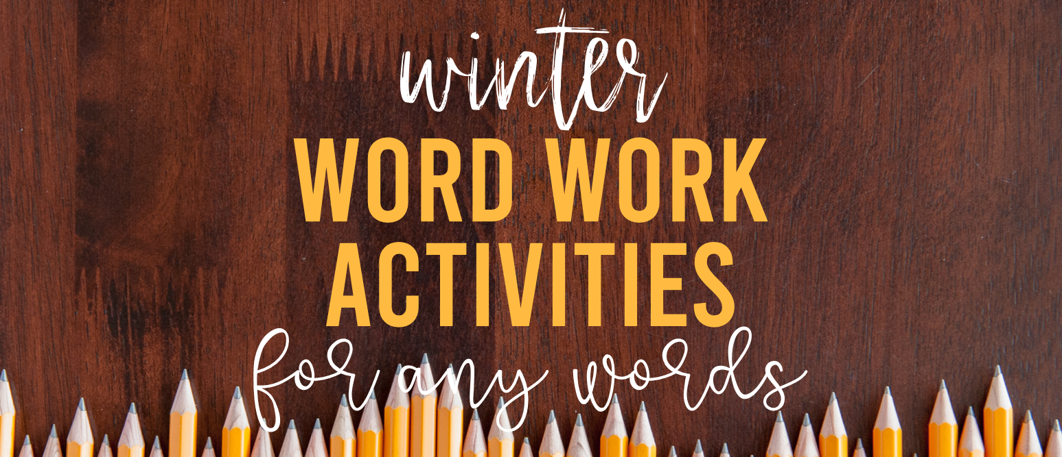 Winter themed word work spelling activities for ANY words! Word work is an essential part of language learning in the primary grades. Make word work FUN while LEARNING takes place! They can be used for absolutely ANY word learning! Perfect for literacy centers or sub plans. A must have for Kindergarten- Third Grade! #wordwork #wordworkactivities #spelling #1stgrade #2ndgrade #kindergarten