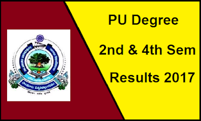 PU Degree 2nd 4th Sem Results 2017