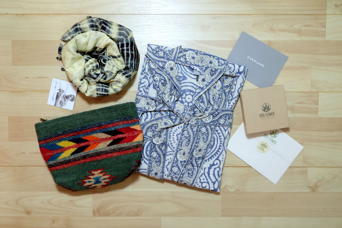 epic ethical goods anniversary giveaway soul flower, bead and reel, ten thousand villages, sharon z, national picnic, everlane