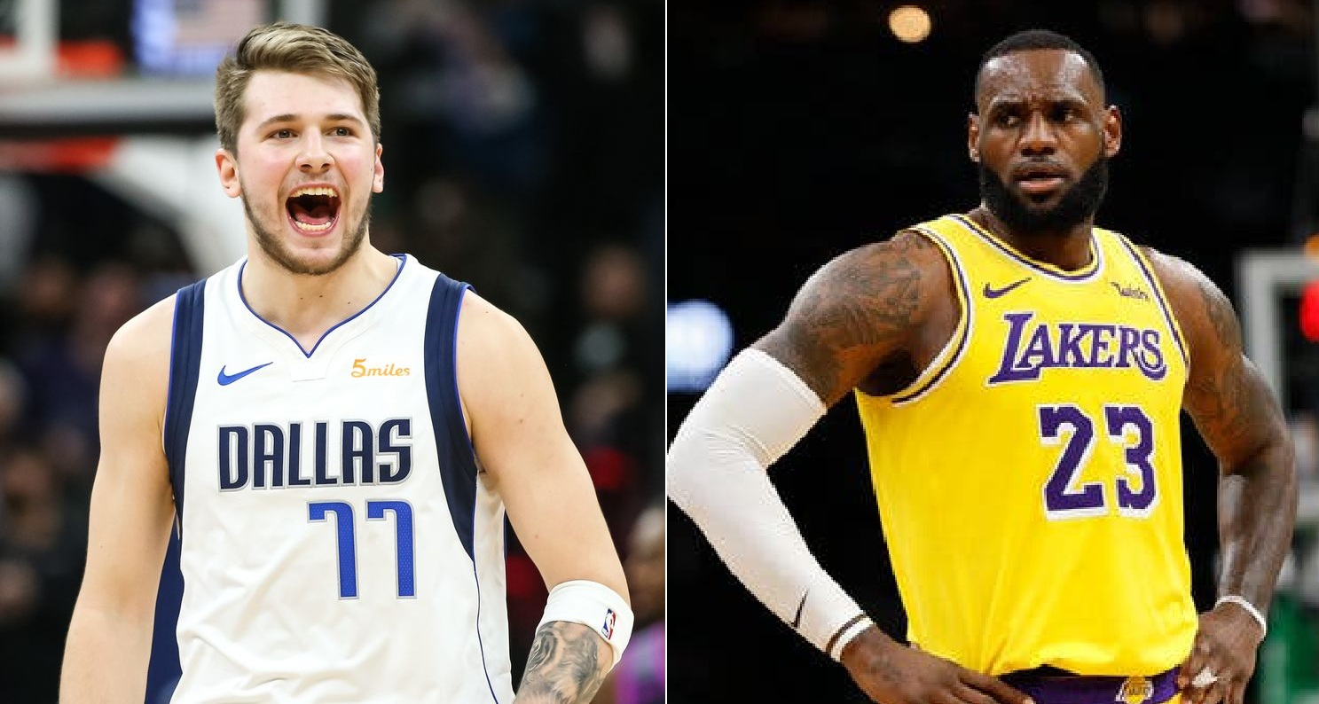 Laker Lebron James Puts A Show Against Luka Doncic And The