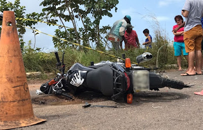 Jovem morre em acidente entre moto e ônibus no litoral sul da Paraíba