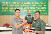 Kapolrestabes Medan SBG Nara Sumber Pasis Dikreg 57 Seskoad 2019 Dimakodim 0201/BS
