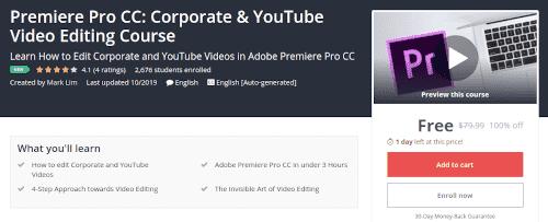كورس تحرير الفيديو ببرنامج Premiere Pro CC للشركات واليوتيوبرز