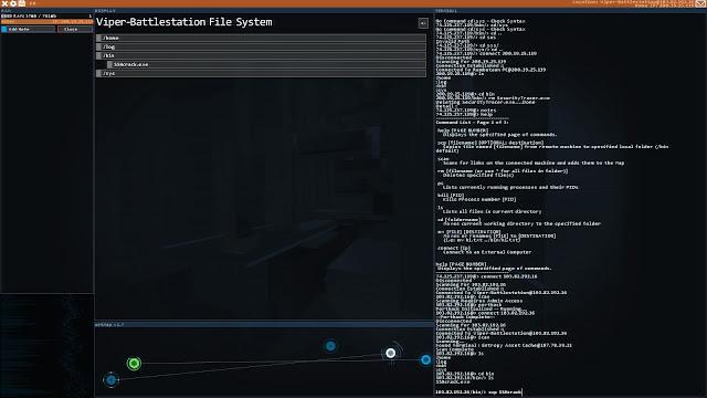 Screenshot from Hacknet
