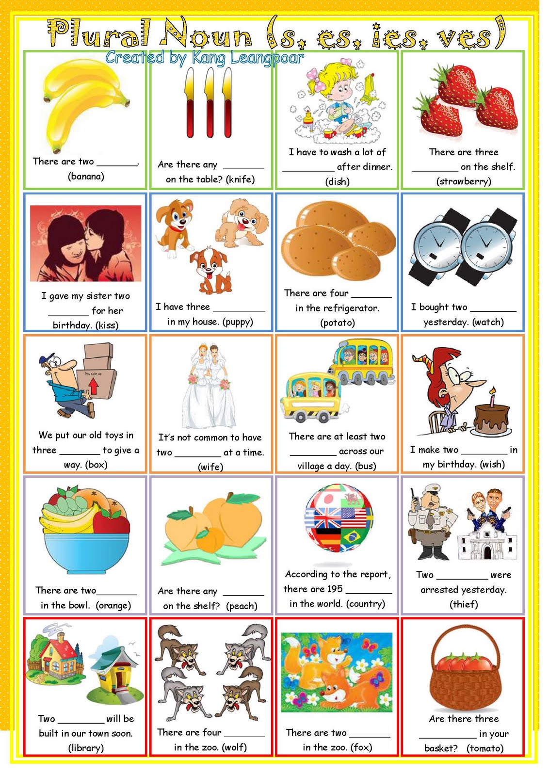 Kang Leangpoar My Esl Printable Worksheet