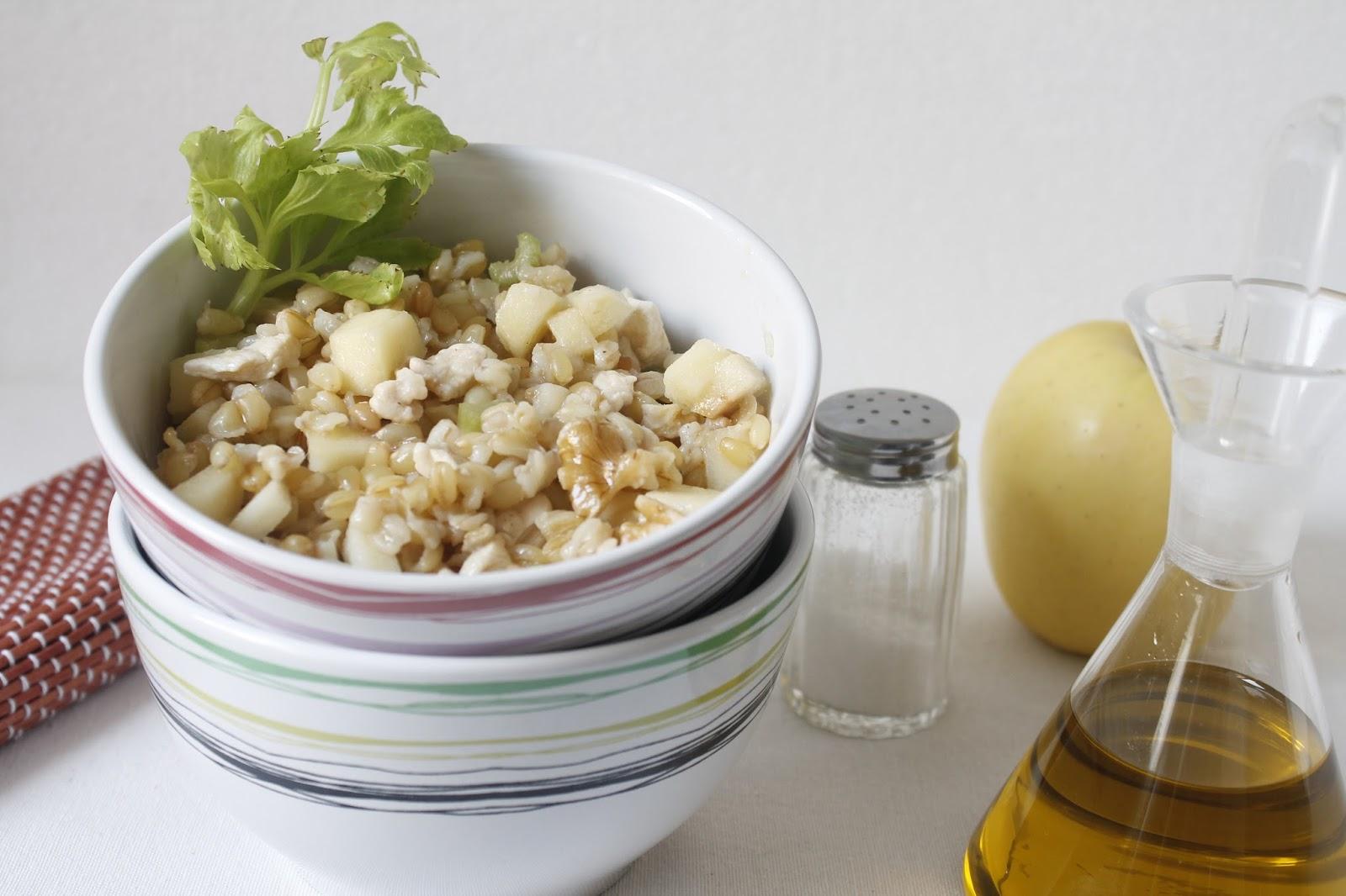 Ensalada de trigo con sabor a huerto for Cocinar trigo