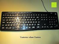 ohne Tasten: Logitech K200 Tastatur USB schnurgebunden schwarz OEM (deutsches Tastaturlayout, QWERTZ)