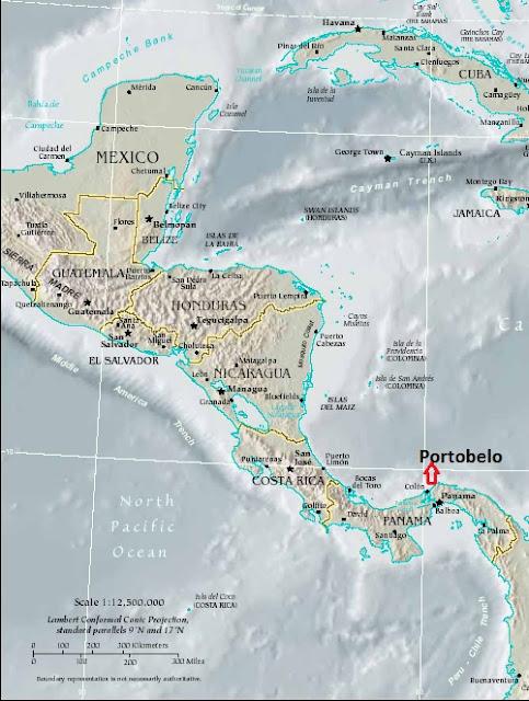 Resultado de imagen de portobelo mapa henry morgan