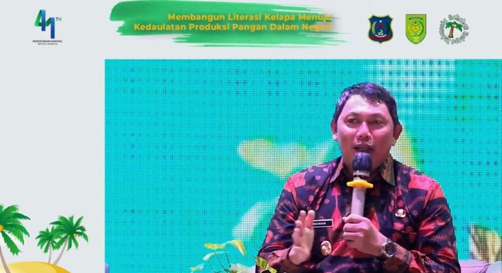 Wabup Hairan Jadi Narasumber Dialog Nasional Literasi Kelapa