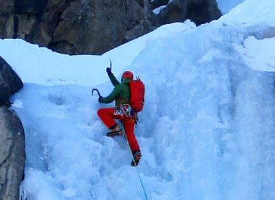 austrian alpine ice climbing