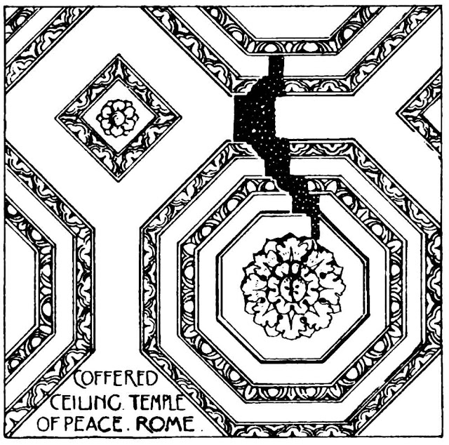 Coffered Ceiling Temple of Peace Rome