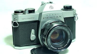 Asahi Pentax Spotmatic SP II (Chrome) Body #559, SMC Takumar 55mm F1.8 #968
