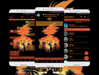 Sunset Theme For GBWhatsApp By Luiz Santos