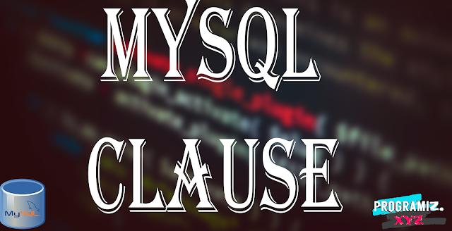 MySQL Clause