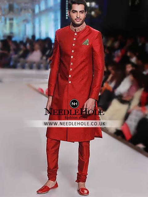 Men\'s Sherwani: Designer Sherwani Clothes For Groom By HSY In USA
