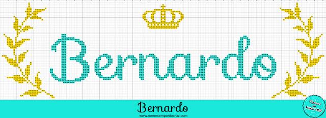 Nome Bernardo em Ponto Cruz – Gráfico Príncipe - 01