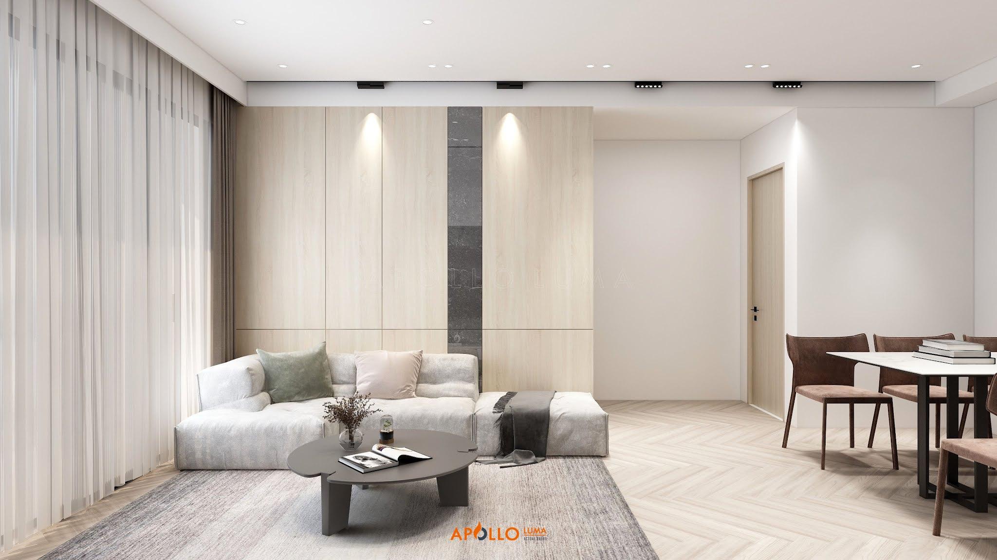 Thiết kế nội thất căn hộ 3 phòng ngủ (A1.02) Phương Đông Green Park