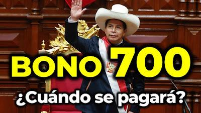 ¿Quiénes recibirán el nuevo bono de S/700 del presidente Castillo?