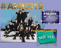 Logo Concorso ''Vivo le emozioni delle finale di #AMICI19 con Freddy'': gratis felpe e la finale