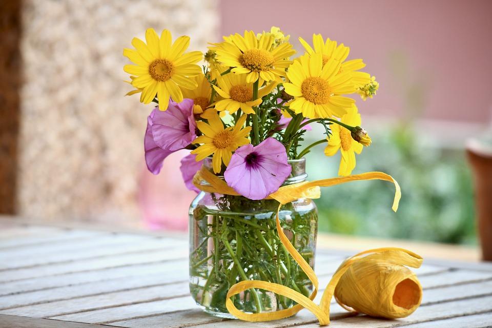 Słoik na kwiaty