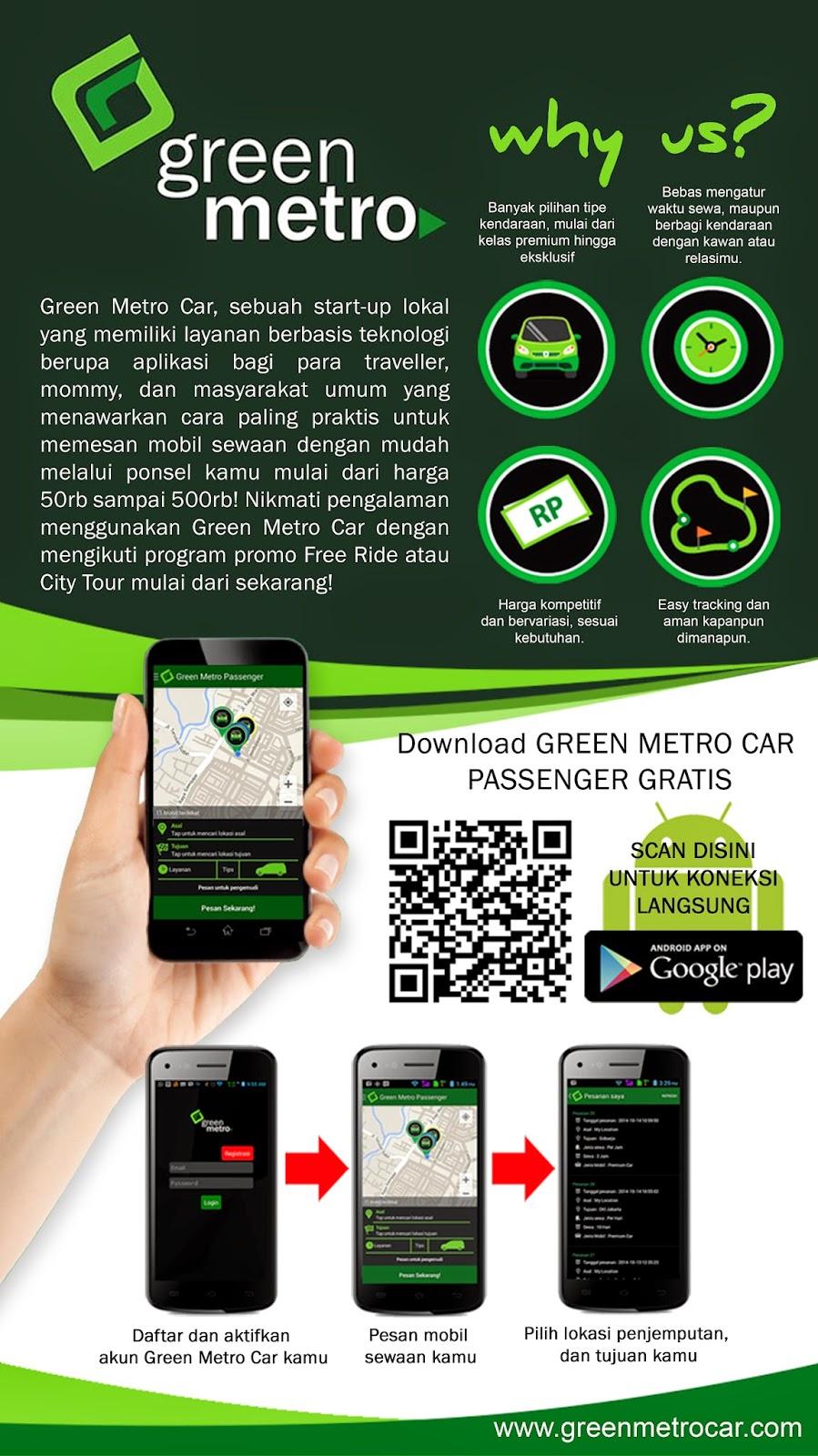 Promo City Tour Green Metro car