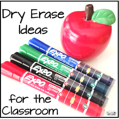 Dry erase ideas for the classroom