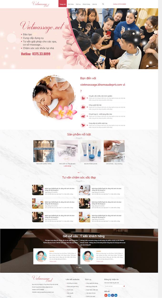Mẫu website SPA đẹp 2020