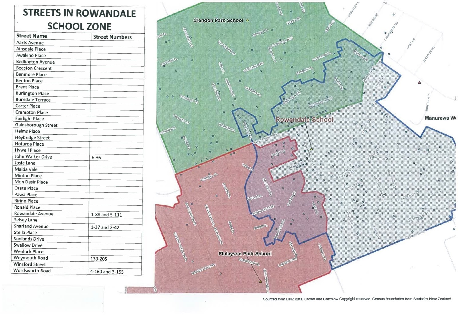 if you live outside of our zone and your children already attend rowandale school the new zone will not affect you the enrolment of out of zone students is