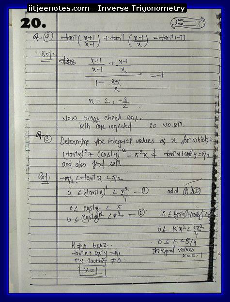 inverse trigonometry notes download kare