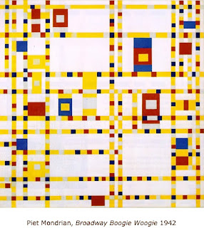 Mondrian's Boogie Woogie Broadway - ideas for elementary art sub lessons