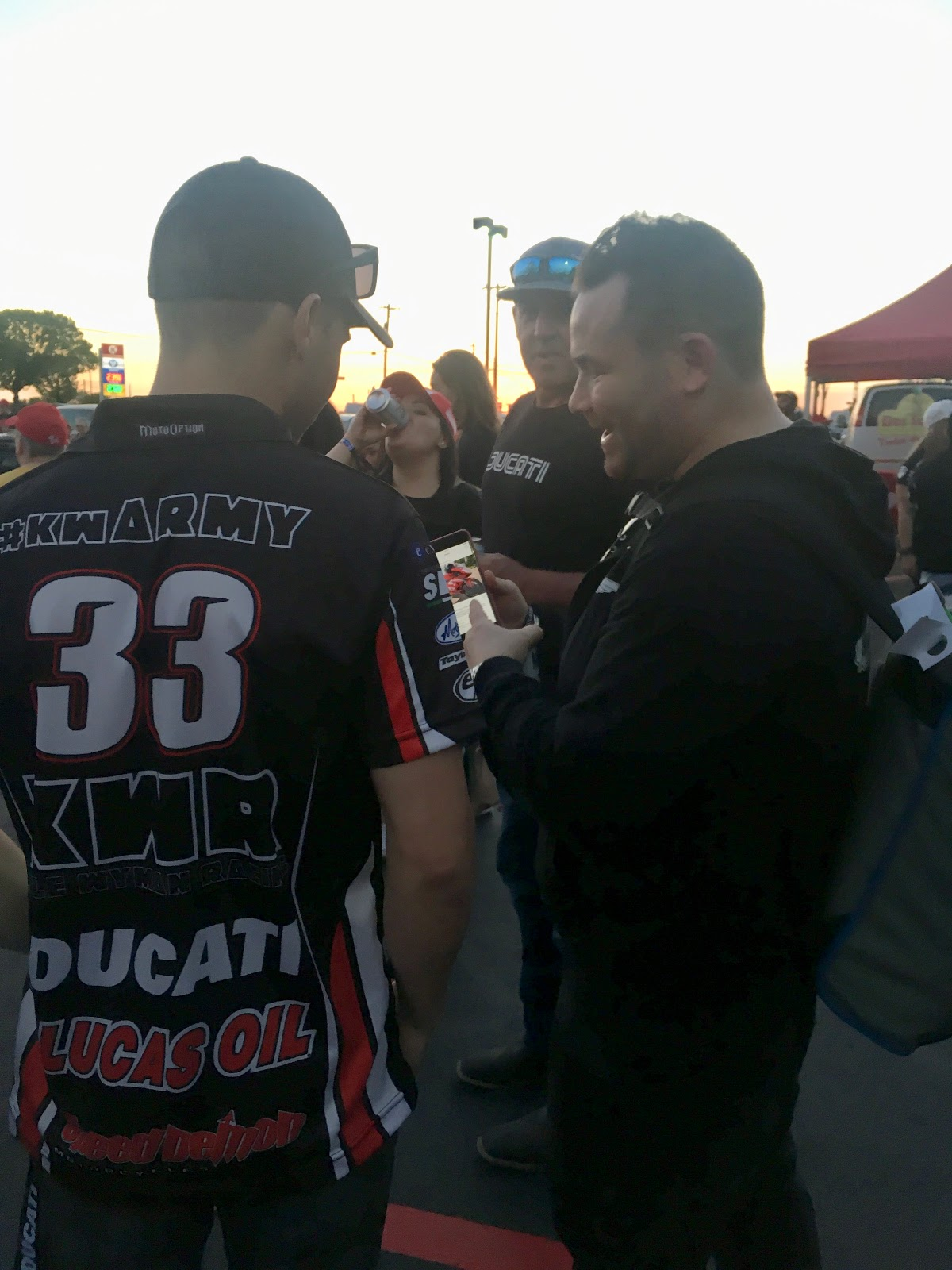 Kyle Wyman and Tigh Loughhead of Gotham Ducati Desmo Owners Club at Ducati Austin