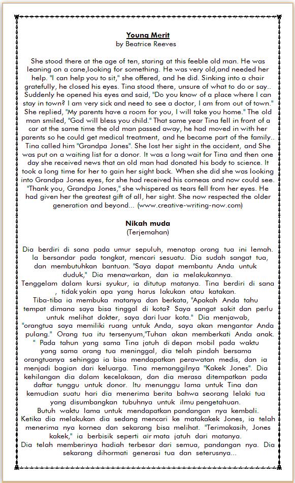 Cerpen Bahasa Inggris : cerpen, bahasa, inggris, Cerpen, Bahasa, Inggris, Tentang, Nikah