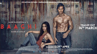 Shraddha kapoor and Tiger Shroff in Baghi Movie Poster