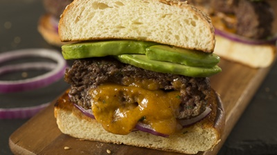 Cheddar Stuffed Burgers